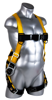 Velocity Harness, Pass-Through Chest, Tongue-Buckle Legs, Side D-Rings, Front