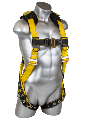 Seraph Harness, Pass-Through Chest, Tongue-Buckle Legs, Front