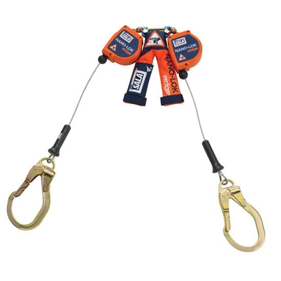 3M | DBI-SALA Nano-Lok Edge SRL, Twin-Leg, Cable w/ Steel Rebar Lock Hooks, 8 ft.