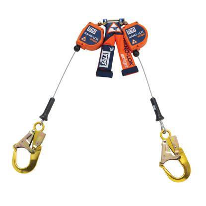 3M | DBI-SALA Nano-Lok Edge SRL, Twin-Leg, Cable w/ Aluminum Rebar Hooks, 8 ft.