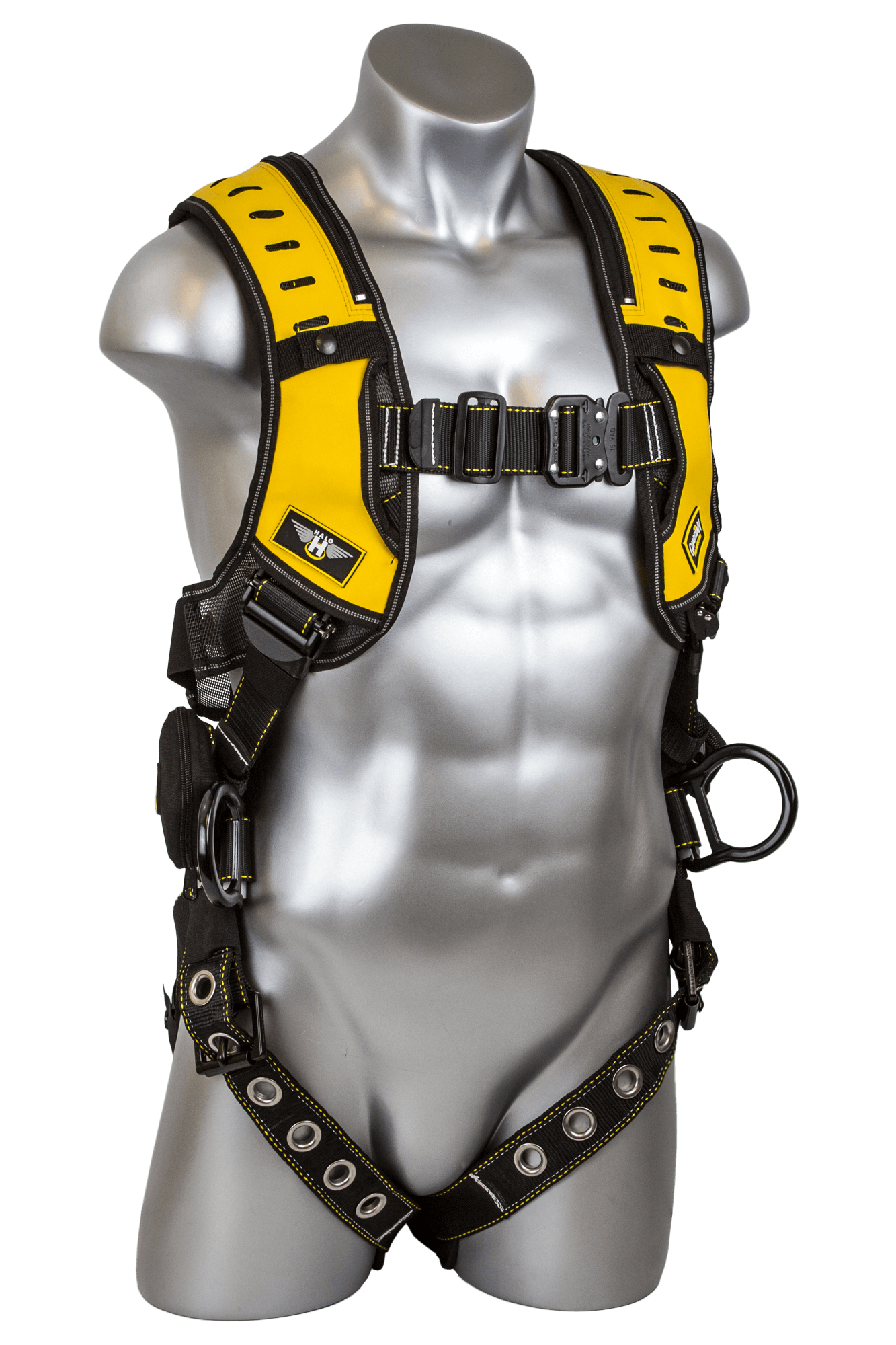 Halo Harness, Quick-Connect Chest, Tongue-Buckle Legs, Side D-Rings, Front