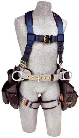ExoFit Construction Harness w/ Tool Pouches, Quick-Connect Chest and Legs, Side D-Rings, Front