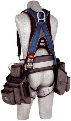 ExoFit Construction Harness w/ Tool Pouches, Quick-Connect Chest and Legs, Side D-Rings, Back