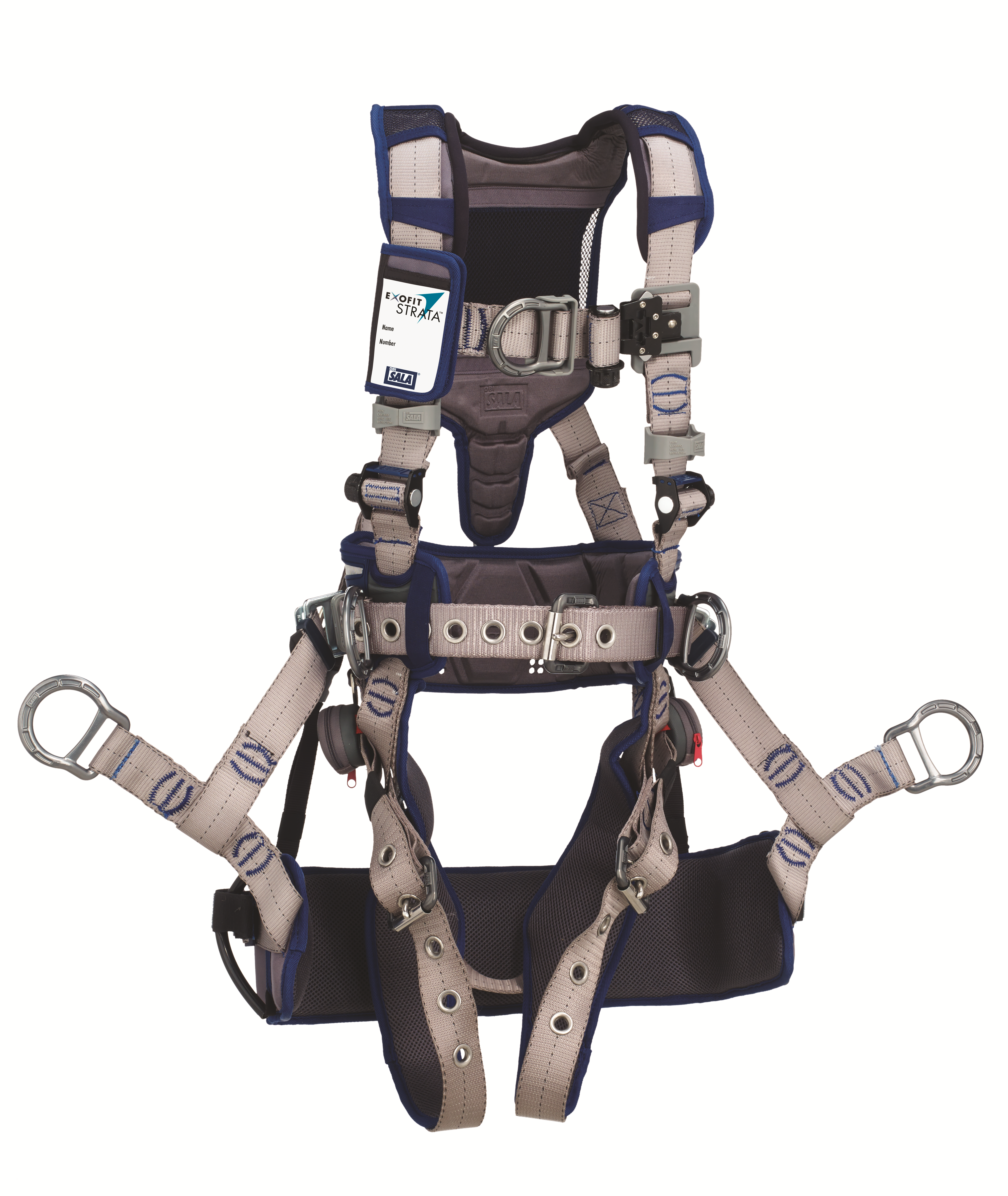 STRATA Tower Climbing Harness, Tongue-Buckle Legs, Side D-Rings, Front