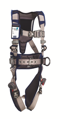 ExoFit STRATA Construction Harness, Duo-Lok Quick-Connect Chest and Legs, Side, Chest D-Rings, Front