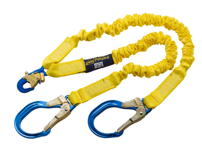 ShockWave 2 Shock Absorbing Lanyard, 6 ft. Twin-Leg w/ Aluminum Rebar Hooks