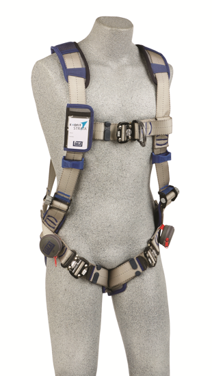ExoFit STRATA Vest-Style Climbing Harness, Quick-Connect Chest and Legs, Chest D-Ring, Front