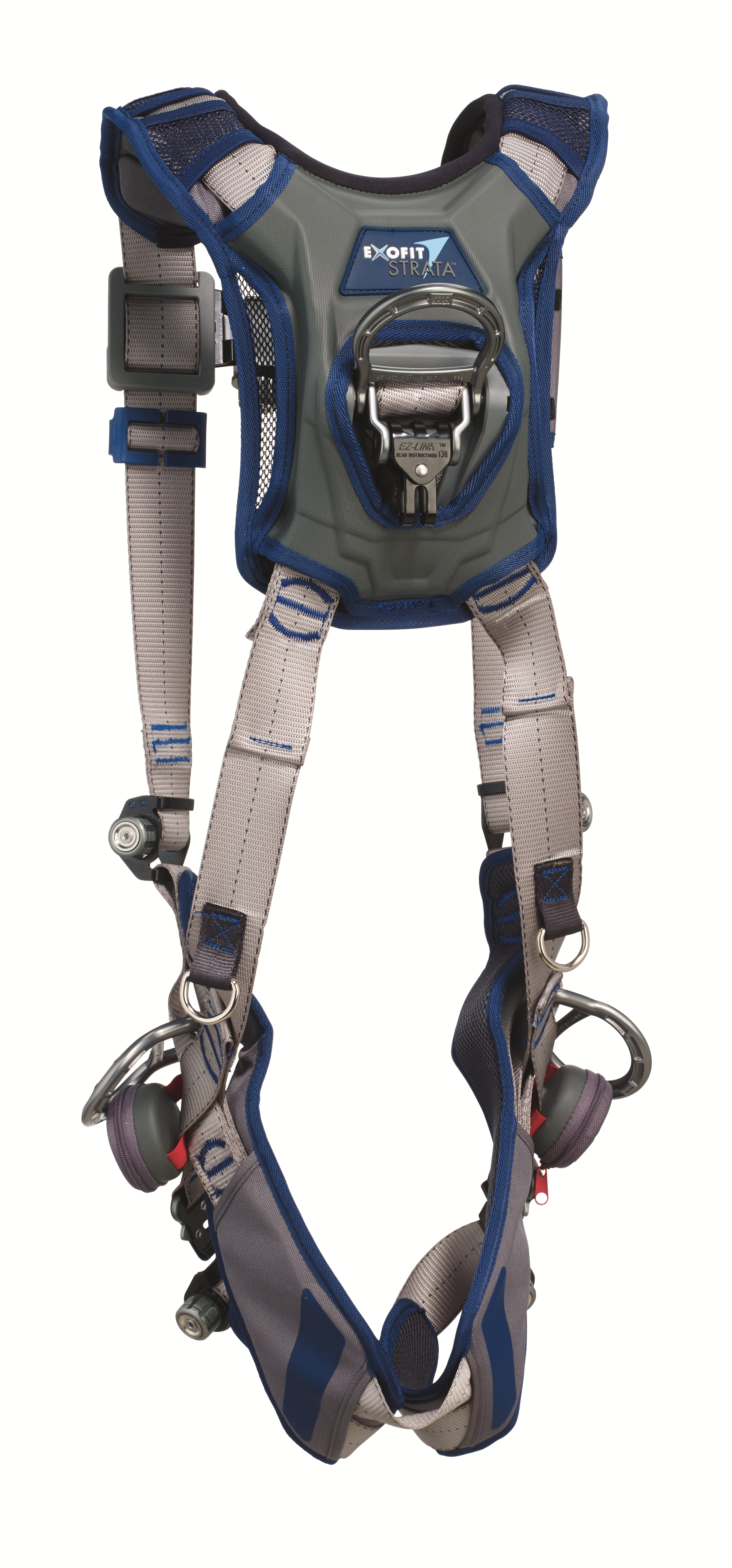 ExoFit STRATA Vest Harness, Triple Action Chest and Leg Buckles, Side D-Rings, Back