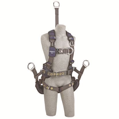 ExoFit NEX Oil and Gas Harness, Quick-Connect Chest, Tongue-Buckle Legs, Seat Sling D-Rings, Front