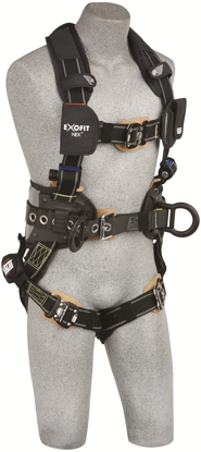 ExoFit NEX Arc Flash Construction Harness, Quick-Connect Chest and Legs, Side D-Rings, Front