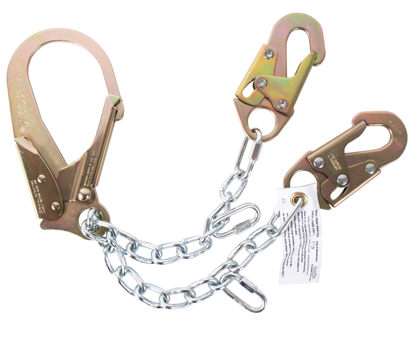Guardian 2 ft. Rebar Chain Assembly Lanyard w/ Non-Swiveling Rebar Hook