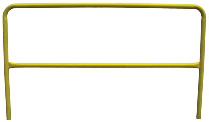 3M | DBI-SALA Portable Guardrail Section, 6 ft., Yellow, Powder Coated, 7900061