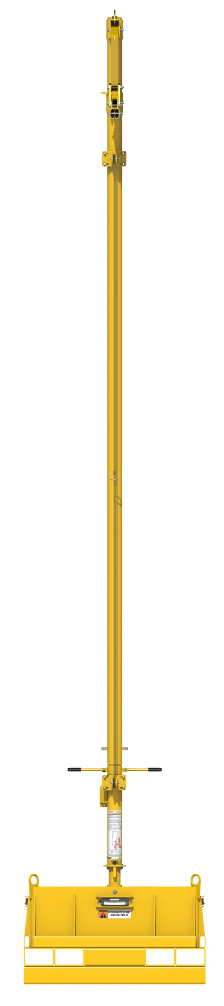 FlexiGuard Portable Counterweighted Jib Fall Arrest System, Back View