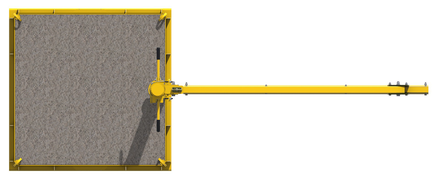 FlexiGuard Portable Counterweighted Jib Fall Arrest System, Top View