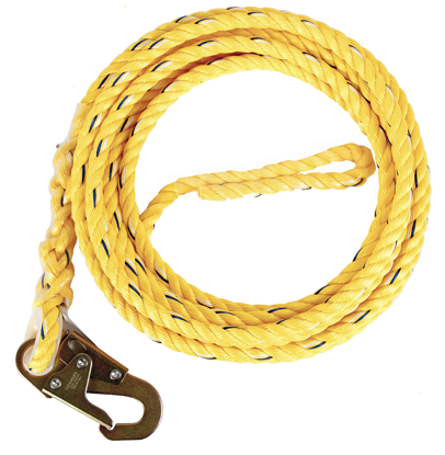 Guardian Poly Steel Rope Vertical Lifeline w/ Snap Hook End