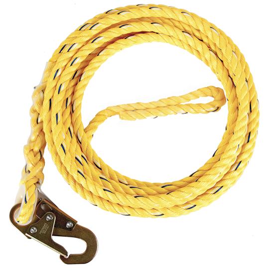 Guardian Poly Steel Rope Vertical Lifeline w/ Snap Hook End