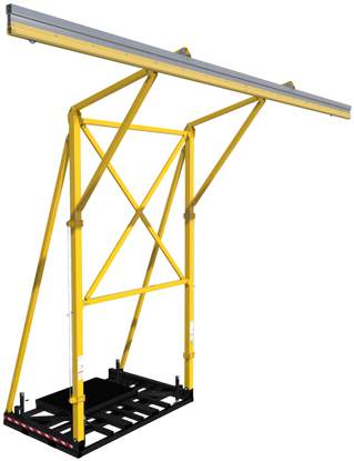 FlexiGuard Counterweighted Overhead 32 ft. Rail Fall Arrest System, 22 ft. Ht., No Counterweights, 8517760
