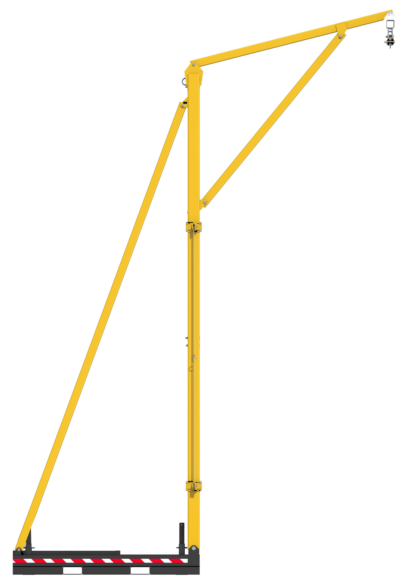 FlexiGuard Counterweighted Overhead Rail Fall Arrest System,  No Counterweights, Side View