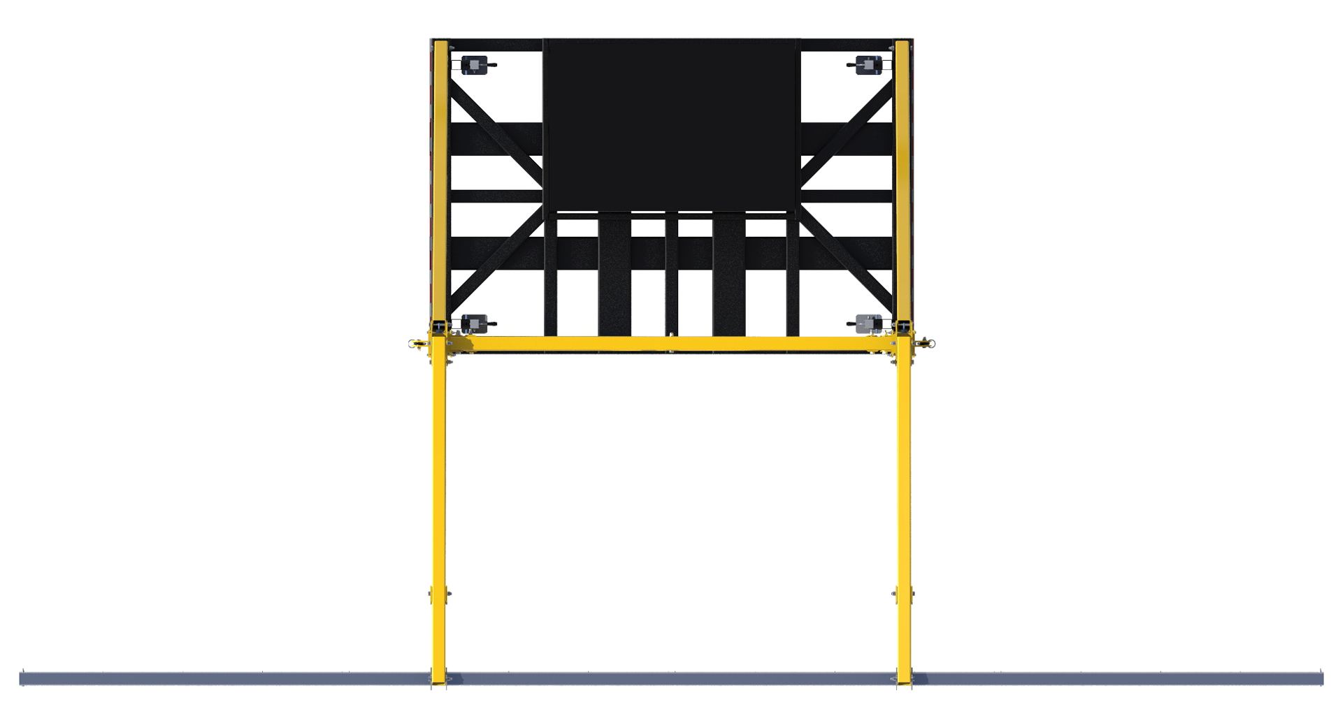 FlexiGuard Counterweighted Overhead Rail Fall Arrest System,  No Counterweights, Top View