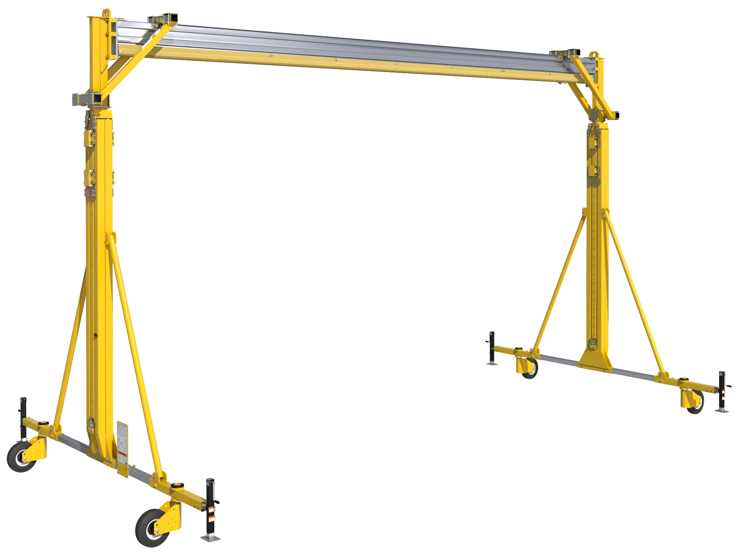 FlexiGuard Portable A-Frame Fall Arrest System Adjustable Height, Lowered