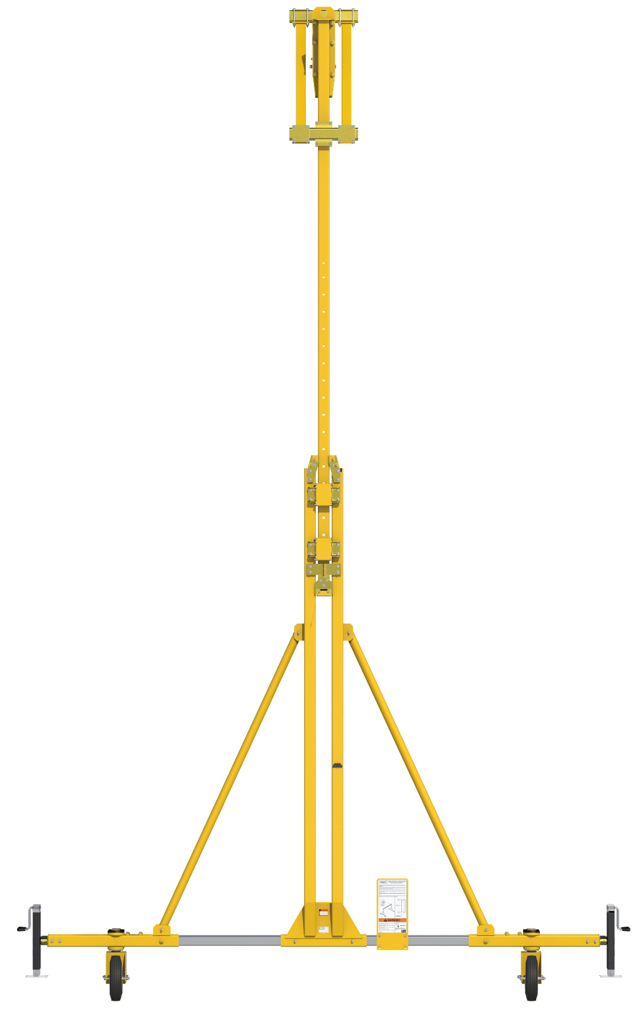FlexiGuard Portable A-Frame Fall Arrest System Adjustable Height, Side View