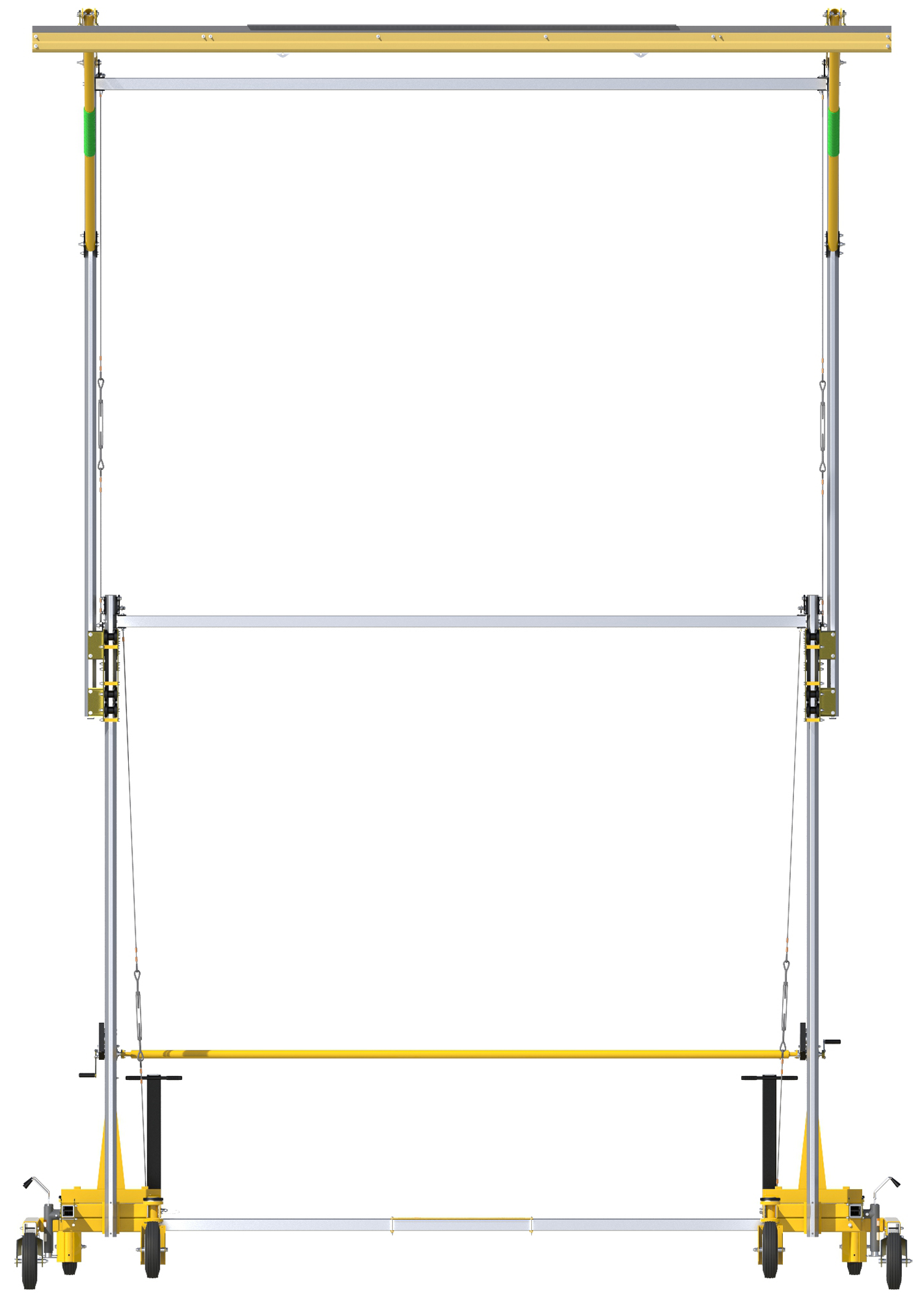 FlexiGuard Portable C-Frame Fall Arrest System Adjustable Height, Front View