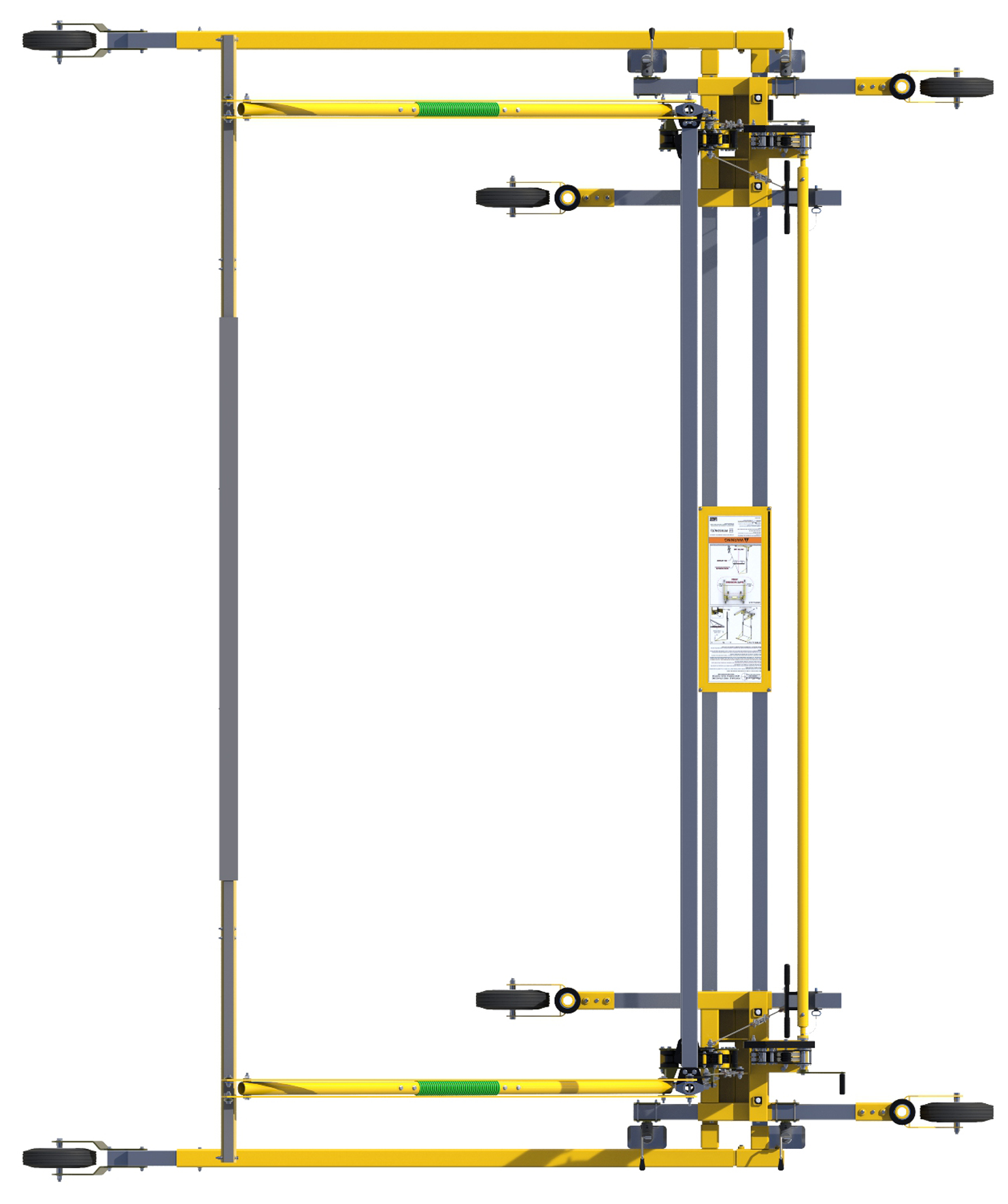 FlexiGuard Portable C-Frame Fall Arrest System Adjustable Height, Top View