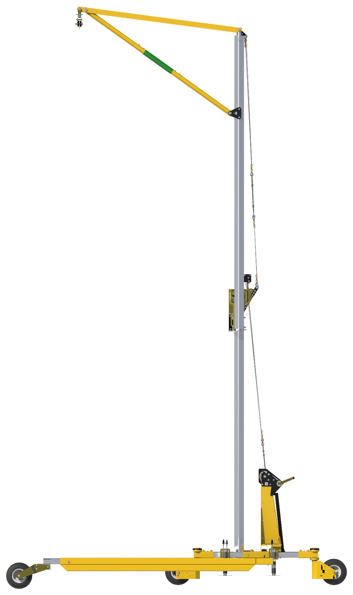 FlexiGuard Portable C-Frame Fall Arrest System Adjustable Height, Side View