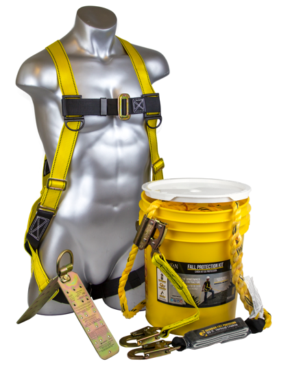Bucket of Safe-Tie w/ 50 ft. Vertical Lifeline Assembly, 00815