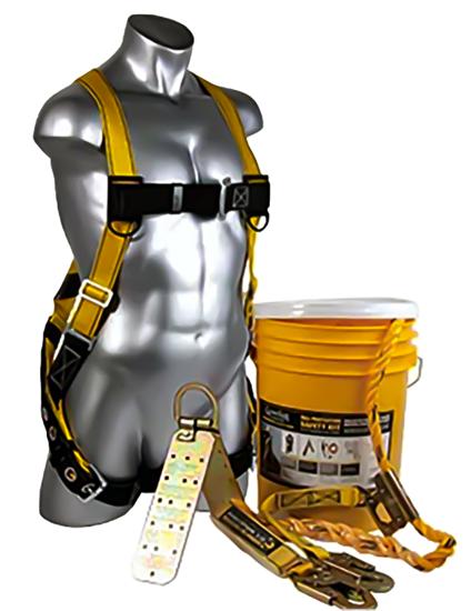 Bucket of Safe-Tie w/ 50 ft. Vertical Lifeline Assembly