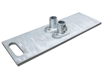 Guardrail Baseplate, Galvanized Steel