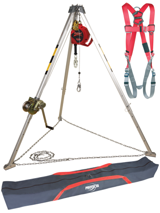 Protecta PRO Confined Space System with Winch, SRL, Harness, and Tripod Bag