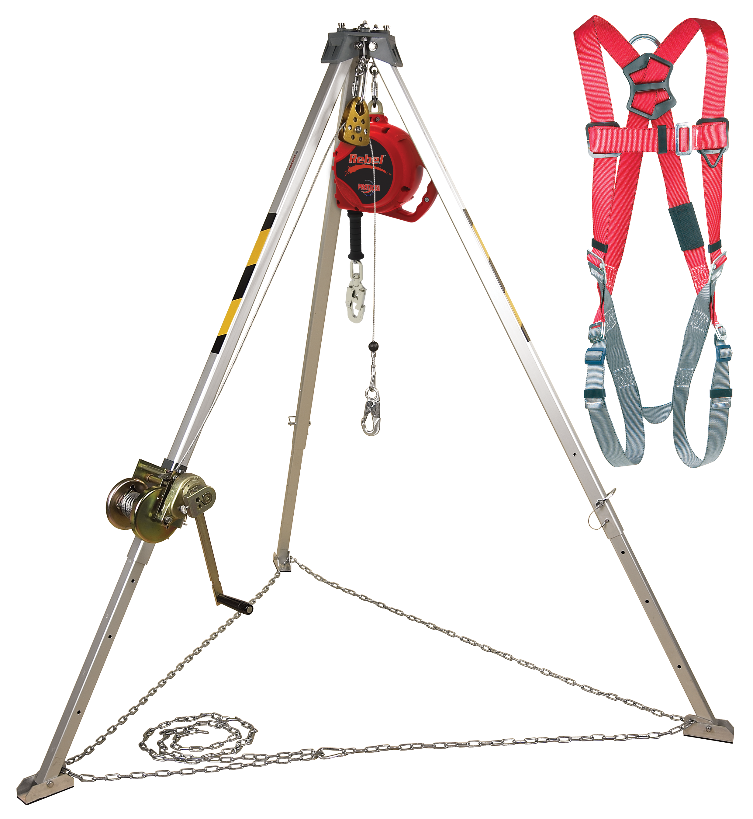 Protecta PRO Confined Space System with Winch, SRL, and Harness
