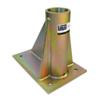 Offset Floor Mount Sleeve, Zinc-Plated Steel