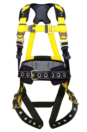 Guardian Series 3 Full-Body Harness w/ Waist Pad, Pass-Through Chest, Tongue-Buckle Legs
