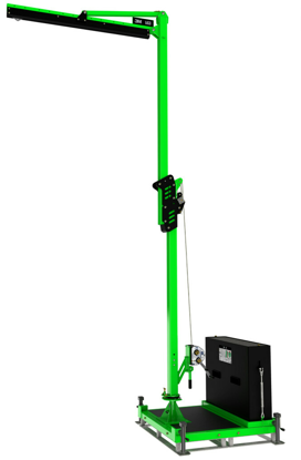 FlexiGuard M100 Adjustable Height, Single User Modular Portable Jib with Counterweight Base