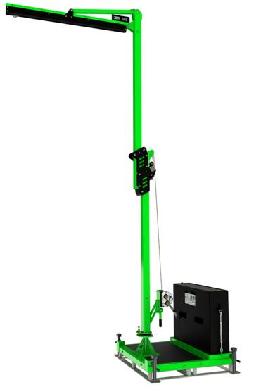 FlexiGuard M100 Adjustable Height, Single User Modular Portable Jib with Counterweight Base