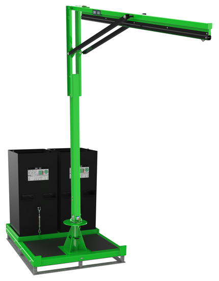FlexiGuard M200 Semi-Fixed Height, Single User Modular Portable Jib with Counterweight Base