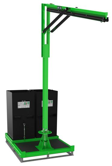 FlexiGuard M200 Semi-Fixed Height, Dual User Modular Portable Jib with Counterweight Base