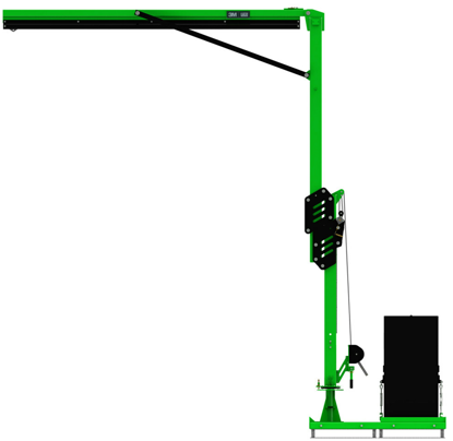 FlexiGuard M200 Adjustable Height, Single User Modular Portable Jib with Counterweight Base
